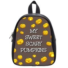 Hallowen My Sweet Scary Pumkins School Bags (Small)