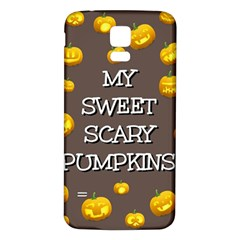 Hallowen My Sweet Scary Pumkins Samsung Galaxy S5 Back Case (white)