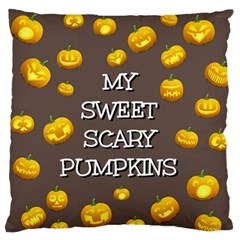 Hallowen My Sweet Scary Pumkins Large Flano Cushion Case (two Sides)