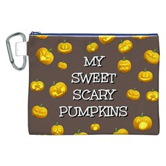 Hallowen My Sweet Scary Pumkins Canvas Cosmetic Bag (XXL)