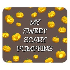 Hallowen My Sweet Scary Pumkins Double Sided Flano Blanket (Small)