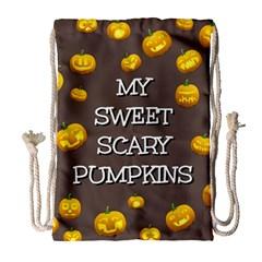 Hallowen My Sweet Scary Pumkins Drawstring Bag (Large)