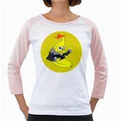 Funny Cartoon Punk Banana Illustration Girly Raglans