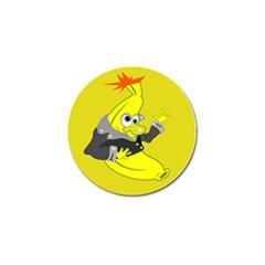 Funny Cartoon Punk Banana Illustration Golf Ball Marker (10 Pack)
