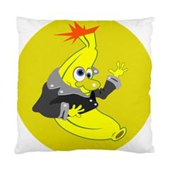 Funny Cartoon Punk Banana Illustration Standard Cushion Case (one Side)