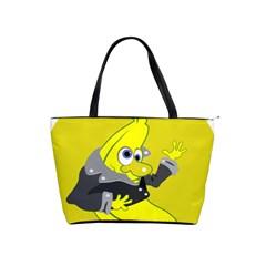 Funny Cartoon Punk Banana Illustration Shoulder Handbags