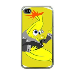 Funny Cartoon Punk Banana Illustration Apple Iphone 4 Case (clear)