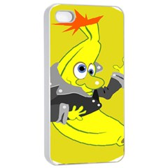 Funny Cartoon Punk Banana Illustration Apple Iphone 4/4s Seamless Case (white)