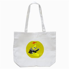 Funny Cartoon Punk Banana Illustration Tote Bag (white)