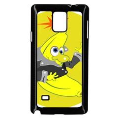 Funny Cartoon Punk Banana Illustration Samsung Galaxy Note 4 Case (Black)