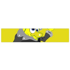 Funny Cartoon Punk Banana Illustration Flano Scarf (Small)