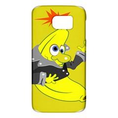 Funny Cartoon Punk Banana Illustration Galaxy S6