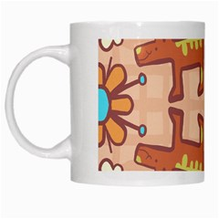 Pet Dog Design  Tileable Doodle Dog Art White Mugs