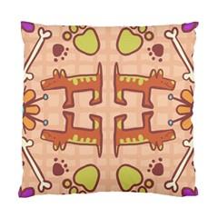 Pet Dog Design  Tileable Doodle Dog Art Standard Cushion Case (One Side)
