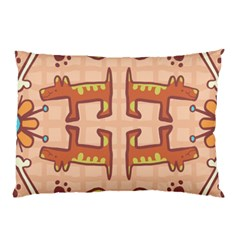 Pet Dog Design  Tileable Doodle Dog Art Pillow Case (two Sides)