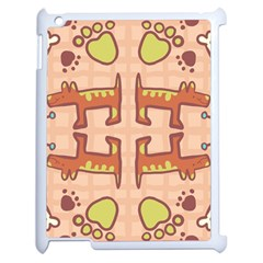 Pet Dog Design  Tileable Doodle Dog Art Apple Ipad 2 Case (white)