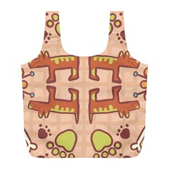 Pet Dog Design  Tileable Doodle Dog Art Full Print Recycle Bags (l)