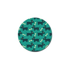Happy Dogs Animals Pattern Golf Ball Marker (4 Pack)