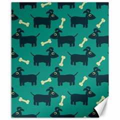 Happy Dogs Animals Pattern Canvas 8  x 10