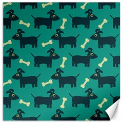 Happy Dogs Animals Pattern Canvas 16  X 16