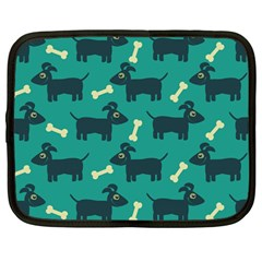Happy Dogs Animals Pattern Netbook Case (Large)