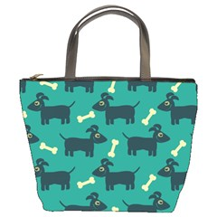 Happy Dogs Animals Pattern Bucket Bags
