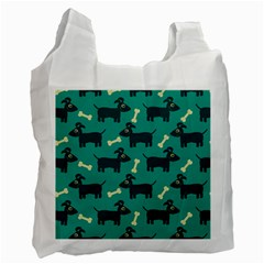 Happy Dogs Animals Pattern Recycle Bag (One Side)