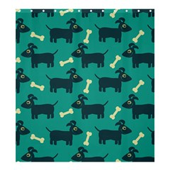 Happy Dogs Animals Pattern Shower Curtain 66  X 72  (large)