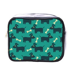 Happy Dogs Animals Pattern Mini Toiletries Bags