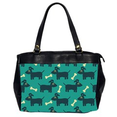 Happy Dogs Animals Pattern Office Handbags (2 Sides)