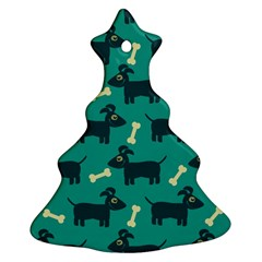 Happy Dogs Animals Pattern Christmas Tree Ornament (two Sides)