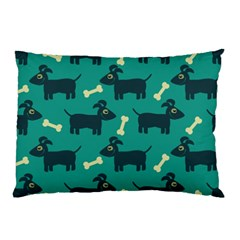 Happy Dogs Animals Pattern Pillow Case (two Sides)