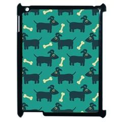 Happy Dogs Animals Pattern Apple Ipad 2 Case (black)