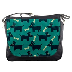 Happy Dogs Animals Pattern Messenger Bags