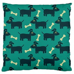 Happy Dogs Animals Pattern Large Cushion Case (One Side)