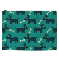 Happy Dogs Animals Pattern Cosmetic Bag (XXL)