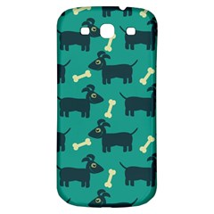Happy Dogs Animals Pattern Samsung Galaxy S3 S III Classic Hardshell Back Case