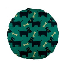 Happy Dogs Animals Pattern Standard 15  Premium Round Cushions