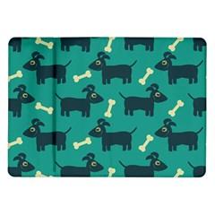 Happy Dogs Animals Pattern Samsung Galaxy Tab 10.1  P7500 Flip Case