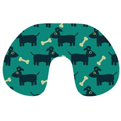 Happy Dogs Animals Pattern Travel Neck Pillows