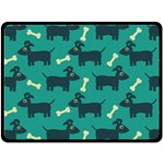 Happy Dogs Animals Pattern Double Sided Fleece Blanket (Large)  80 x60 Blanket Front