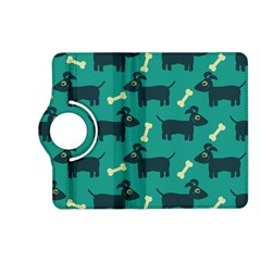 Happy Dogs Animals Pattern Kindle Fire Hd (2013) Flip 360 Case