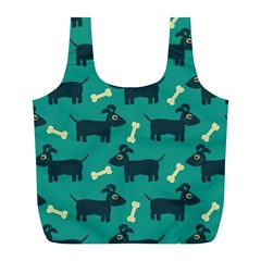 Happy Dogs Animals Pattern Full Print Recycle Bags (l)