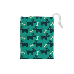 Happy Dogs Animals Pattern Drawstring Pouches (small)