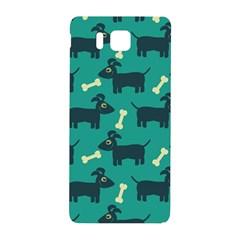 Happy Dogs Animals Pattern Samsung Galaxy Alpha Hardshell Back Case