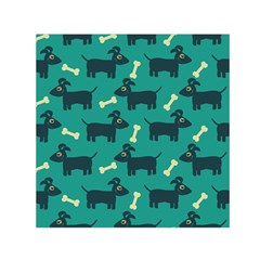 Happy Dogs Animals Pattern Small Satin Scarf (square)