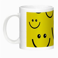 Digitally Created Yellow Happy Smile  Face Wallpaper Night Luminous Mugs