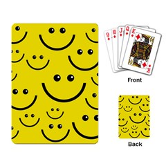 Digitally Created Yellow Happy Smile  Face Wallpaper Playing Card