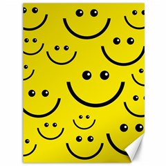 Digitally Created Yellow Happy Smile  Face Wallpaper Canvas 36  x 48