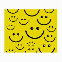 Digitally Created Yellow Happy Smile  Face Wallpaper Small Glasses Cloth (2-Side)